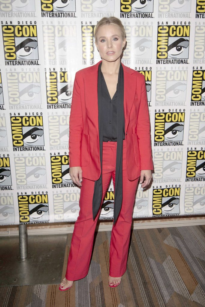 Kristen Bell in a Red Suit
