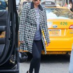 Lady Gaga Wears a Plaid Jacket Out in New York
