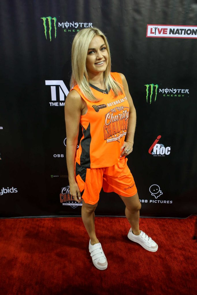 Lindsay Arnold Attends 50K Charity Challenge Celebrity Basketball Game at UCLA's Pauley Pavilion in Westwood-1