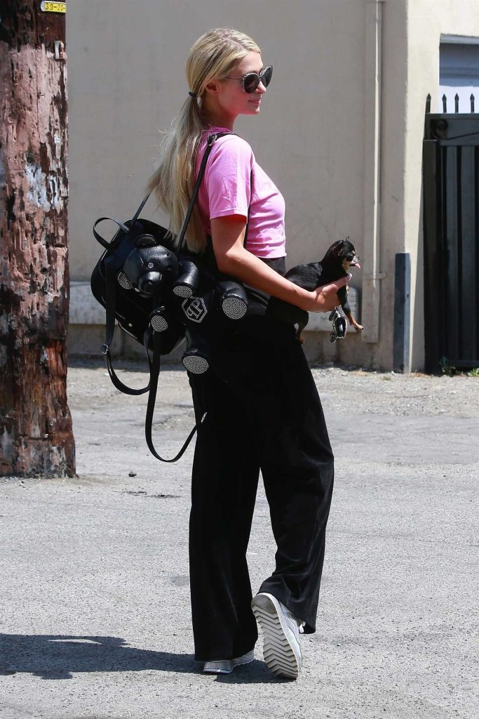 Paris Hilton Stepped Out in Beverly Hills-5