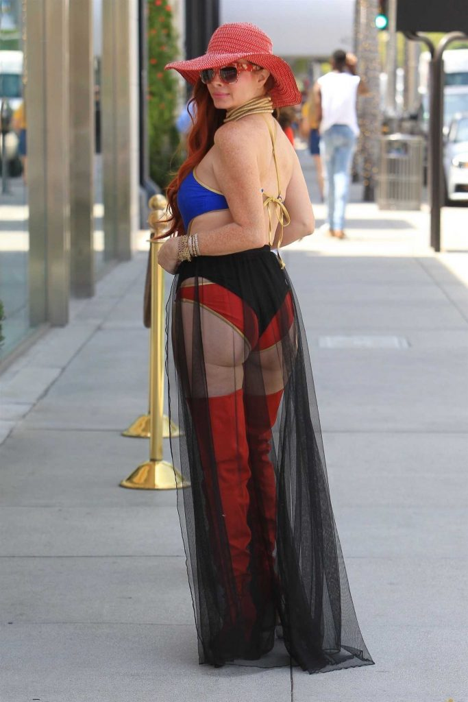 Phoebe Price Poses in a Superwoman Costume in Beverly Hills-4