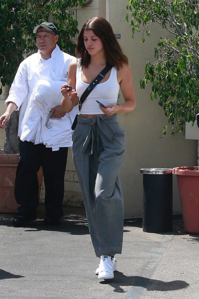 Sofia Richie Wears a White Tank-Top Out in Los Angeles-3