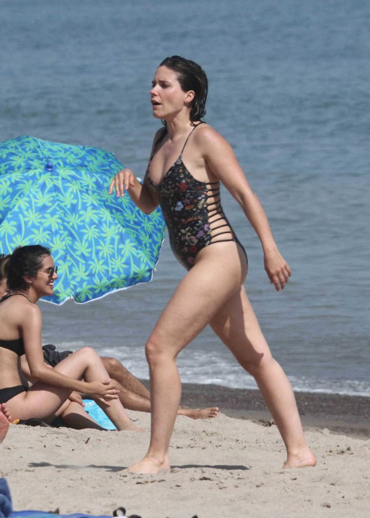 Sophia Bush in Bikini Swimsuit on the Beach in Malibu-5