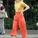 Vanessa Kirby on the Set of an Untitled Adam Leon Movie in New York City