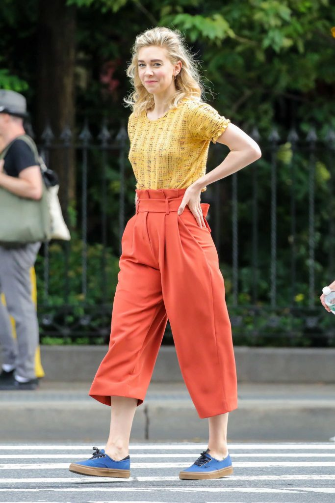 Vanessa Kirby on the Set of an Untitled Adam Leon Movie in New York City-1