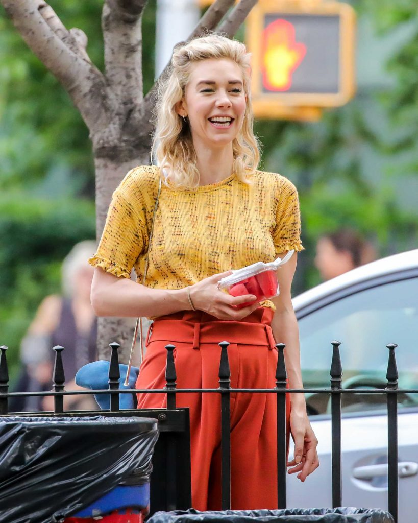 Vanessa Kirby on the Set of an Untitled Adam Leon Movie in New York City-5