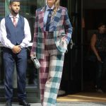 Blake Lively in a Plaid Suit Was Seen Out in NYC