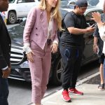 Blake Lively in a Violet Suit Was Seen Out in NYC