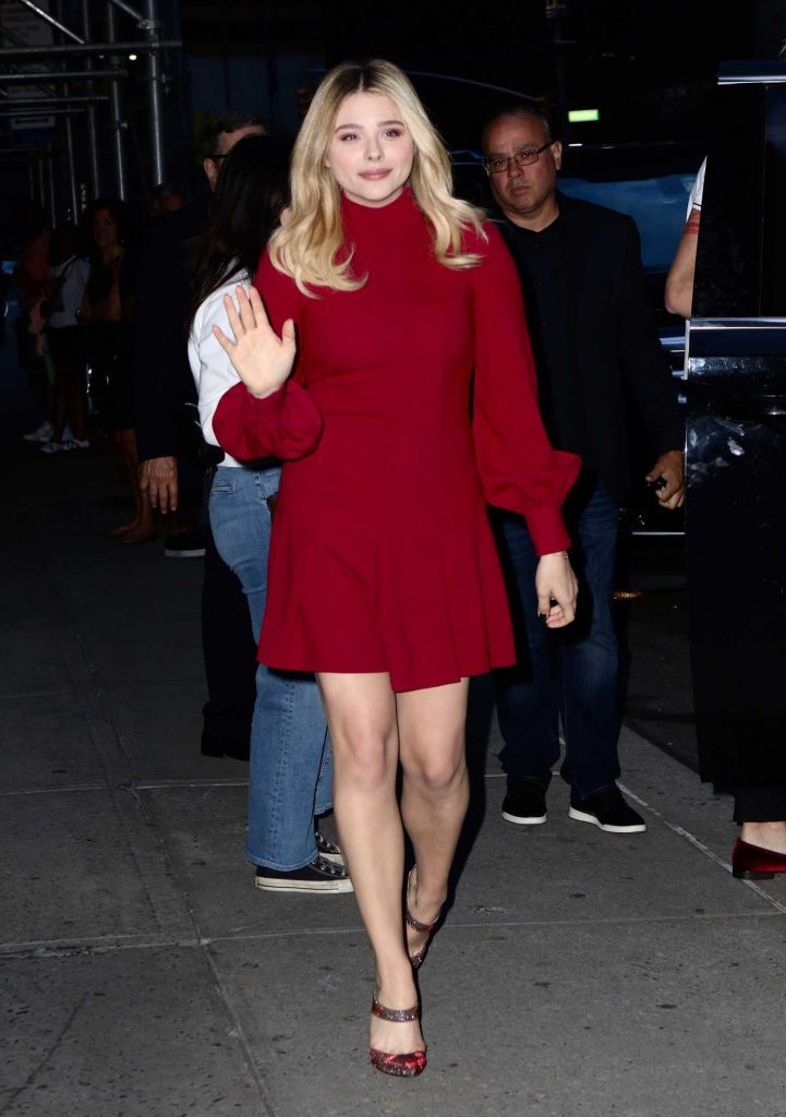 Chloe Moretz in a Red Dress