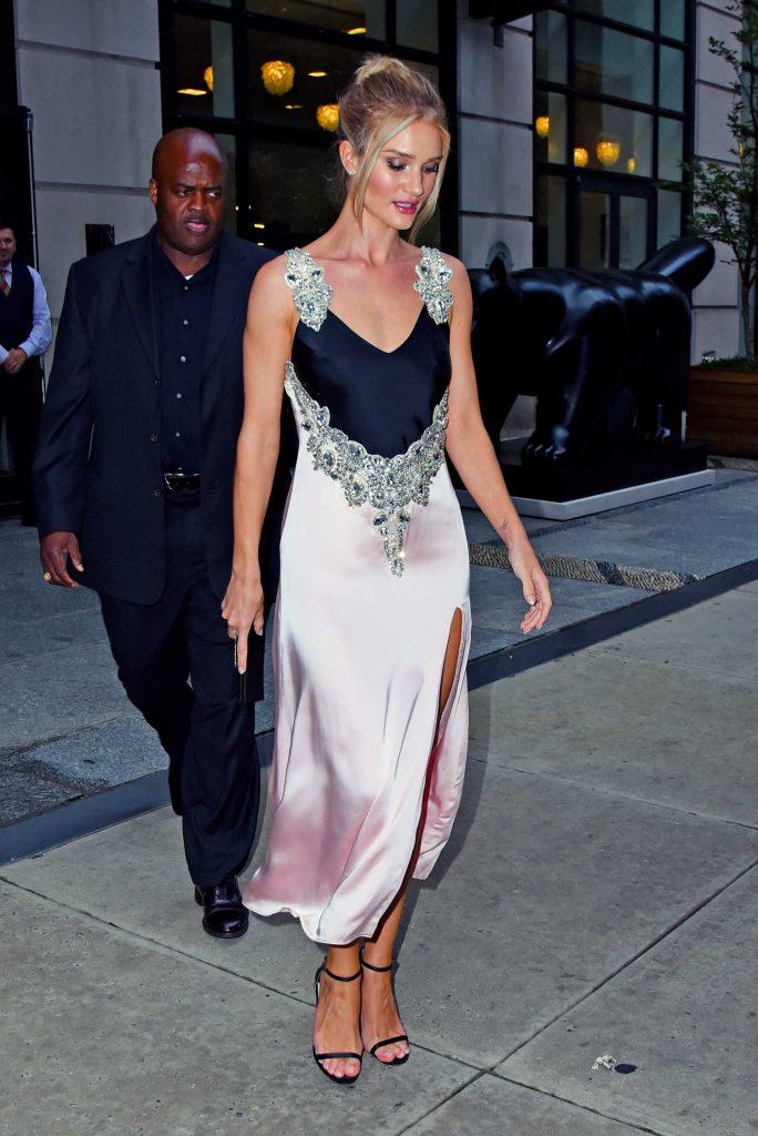 Rosie Huntington-Whiteley in an Evening Dress