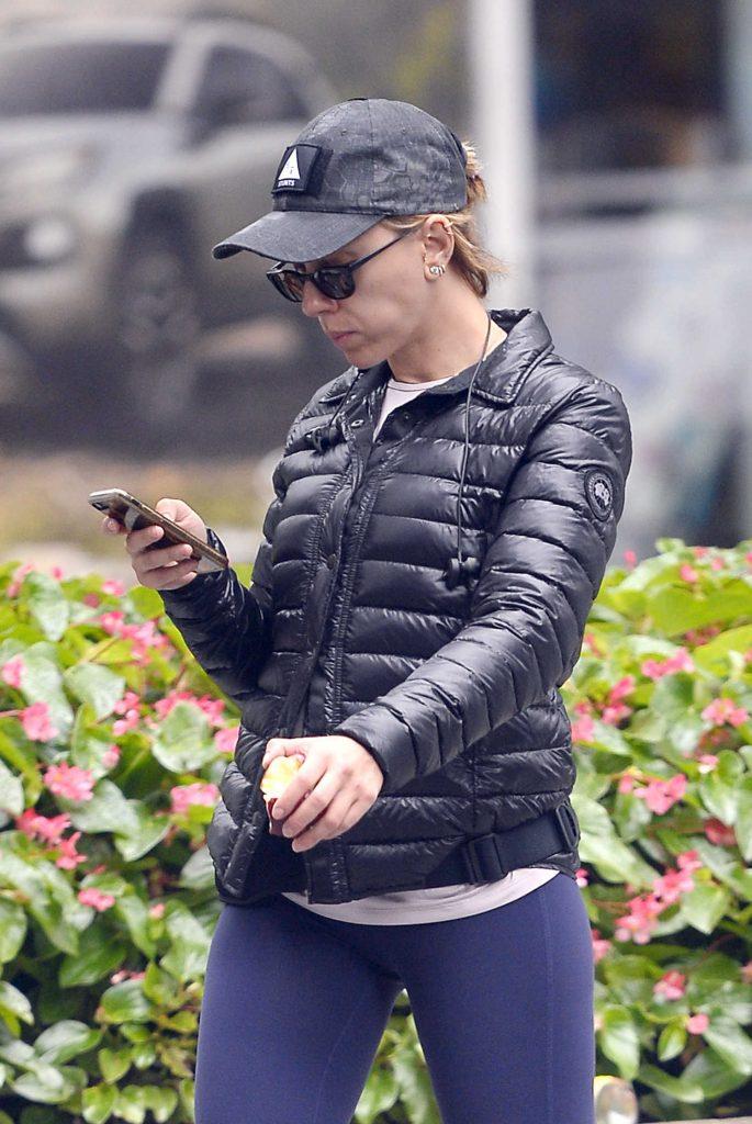 Scarlett Johansson in a Gray Cap