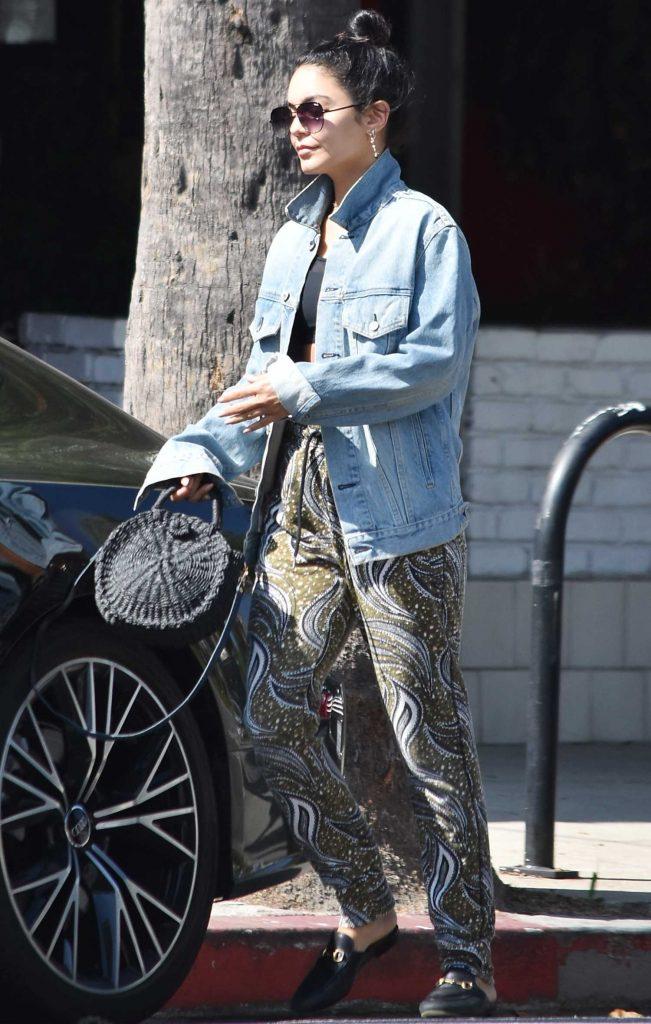 Vanessa Hudgens in a Blue Denim Jacket
