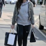 Vicky Pattison in a White Nike Trainers Leaves Crystal Clear in Liverpool