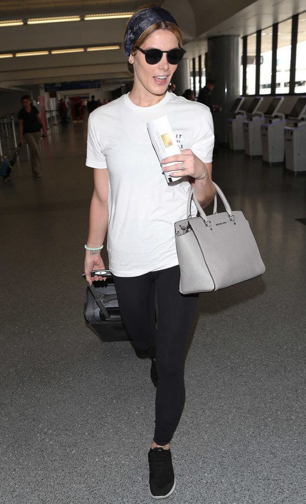 Ashley Greene in a White T-Shirt