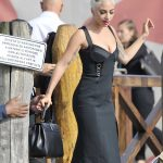 Lady Gaga on a Water Taxi During the 75th Venice Film Festival in Venice