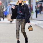 Devon Windsor in a Brown Fendi Pants Was Seen Out in NYC