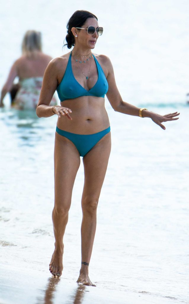 Lauren Silverman in a Blue Bikini