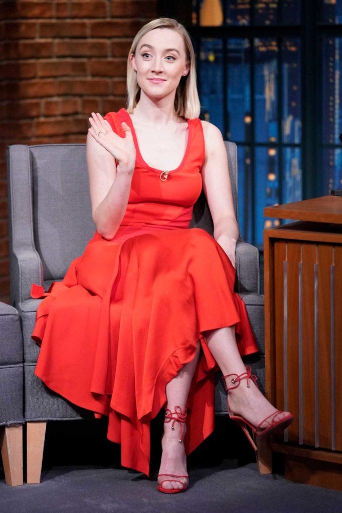 Saoirse Ronan in a Red Dress