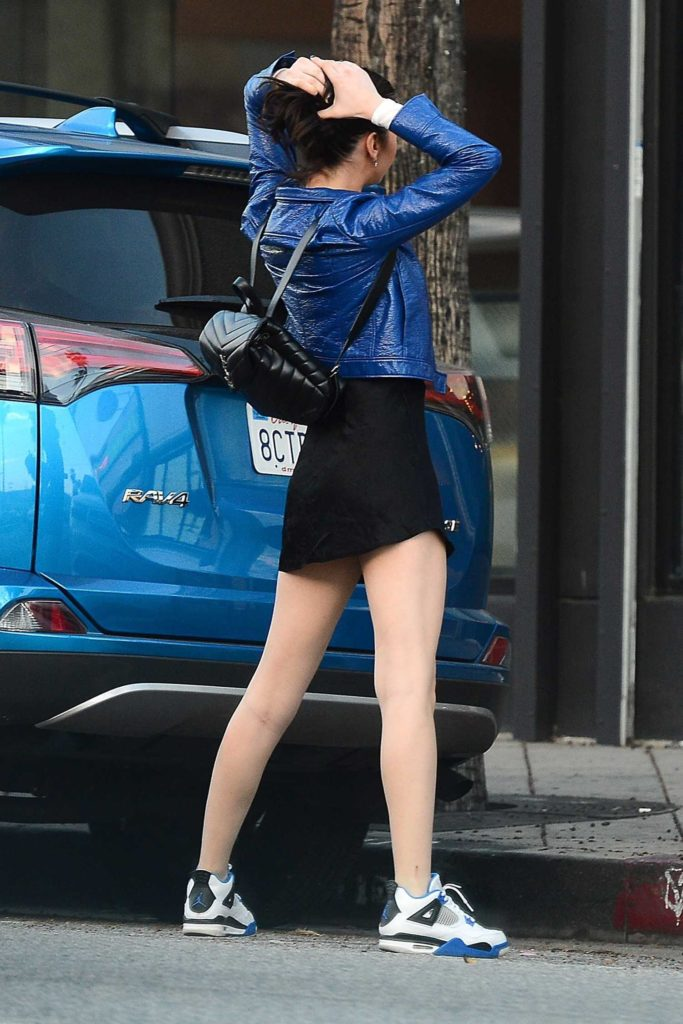 Amanda Steele in a Blue Jacket