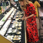 Amy Adams in a Red Floral Dress Goes Shopping for Sushi and Veggies in Beverly Hills
