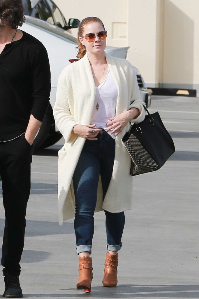 Amy Adams in a White Cardigan