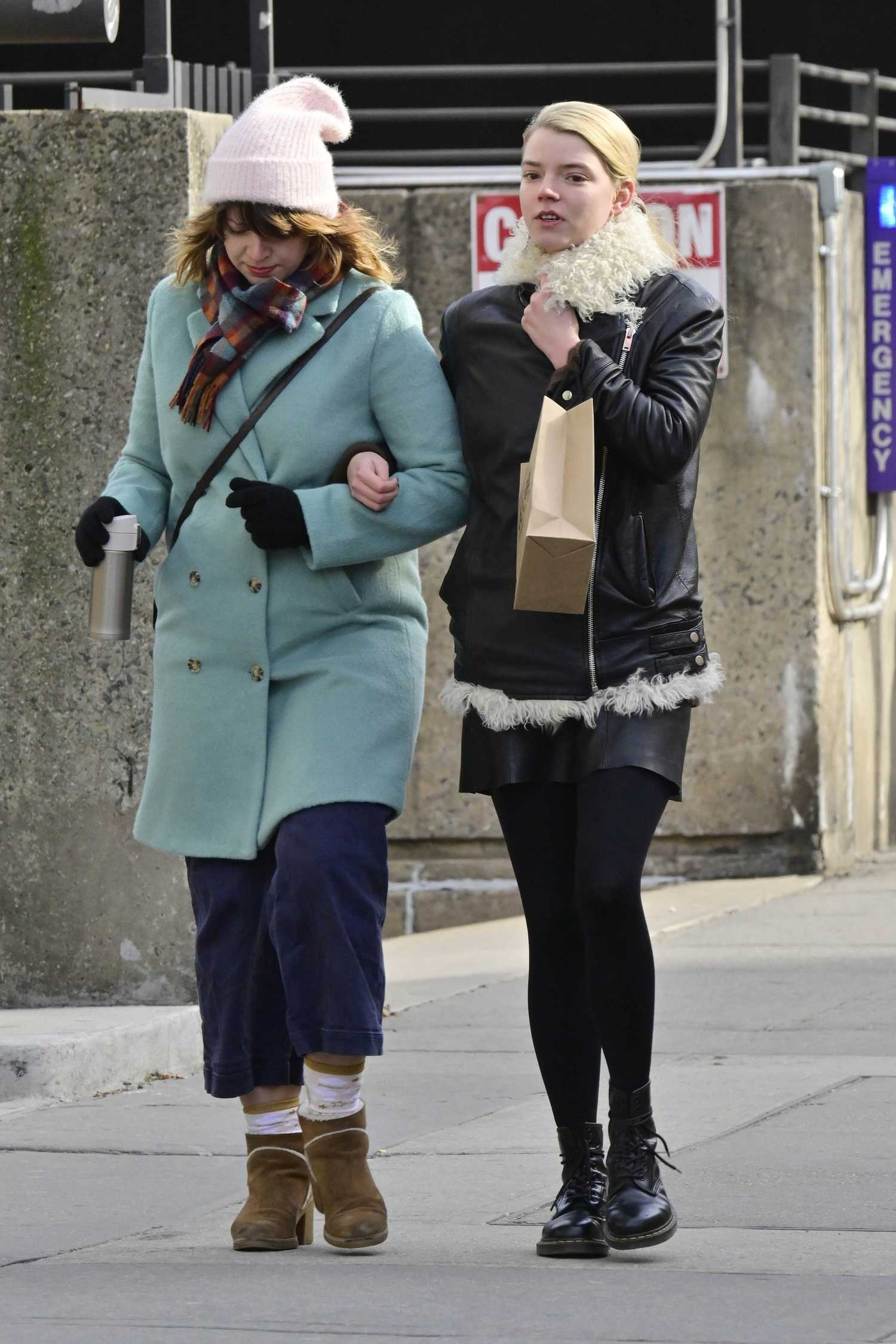 Homepage Fashion: Anya Taylor-Joy Goes Shopping Out With A Gal Pal In NYC