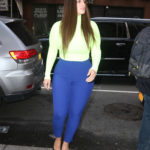 Ashley Graham in a Blue Pants Leaves the Today Show in New York