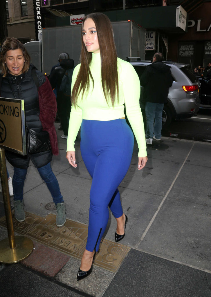 Ashley Graham in a Blue Pants