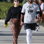 Ashley Graham in Leopard Print Leggings Was Seen Out with Justin Ervin in Santa Monica