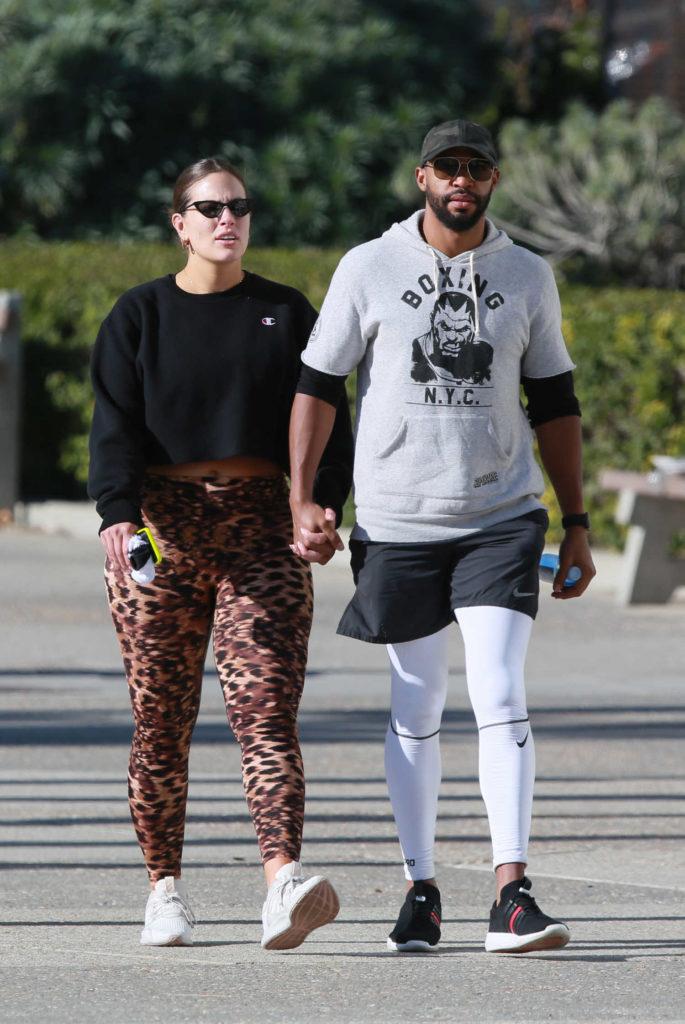 Ashley Graham in Leopard Print Leggings