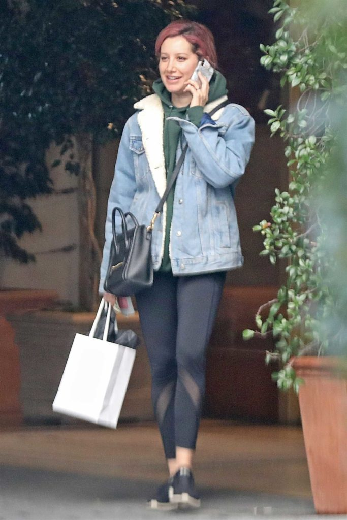 Ashley Tisdale in a Blue Denim Jacket