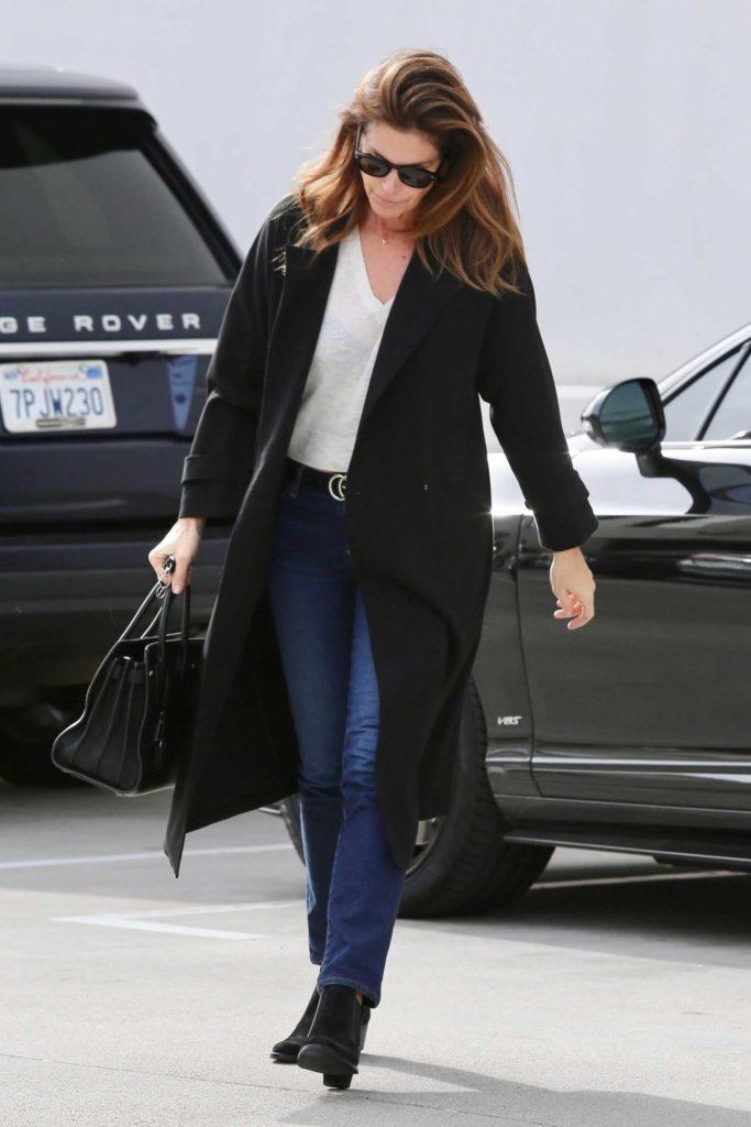 Cindy Crawford in a Black Coat
