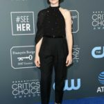 Claire Foy Attends the 24th Annual Critics' Choice Awards at Barker Hangar in Santa Monica