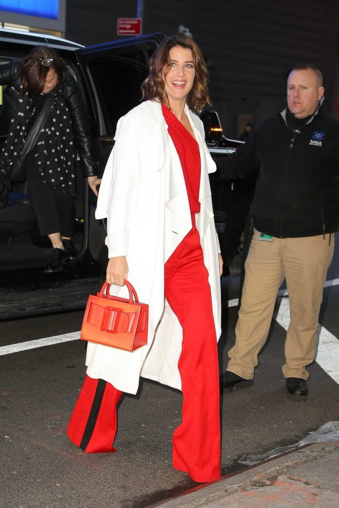 Cobie Smulders in a Red Pants