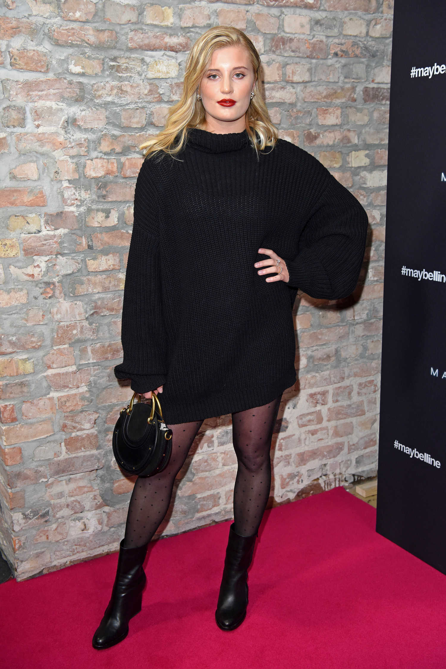 Luna Schweiger Attends Maybelline Fashion Show During The