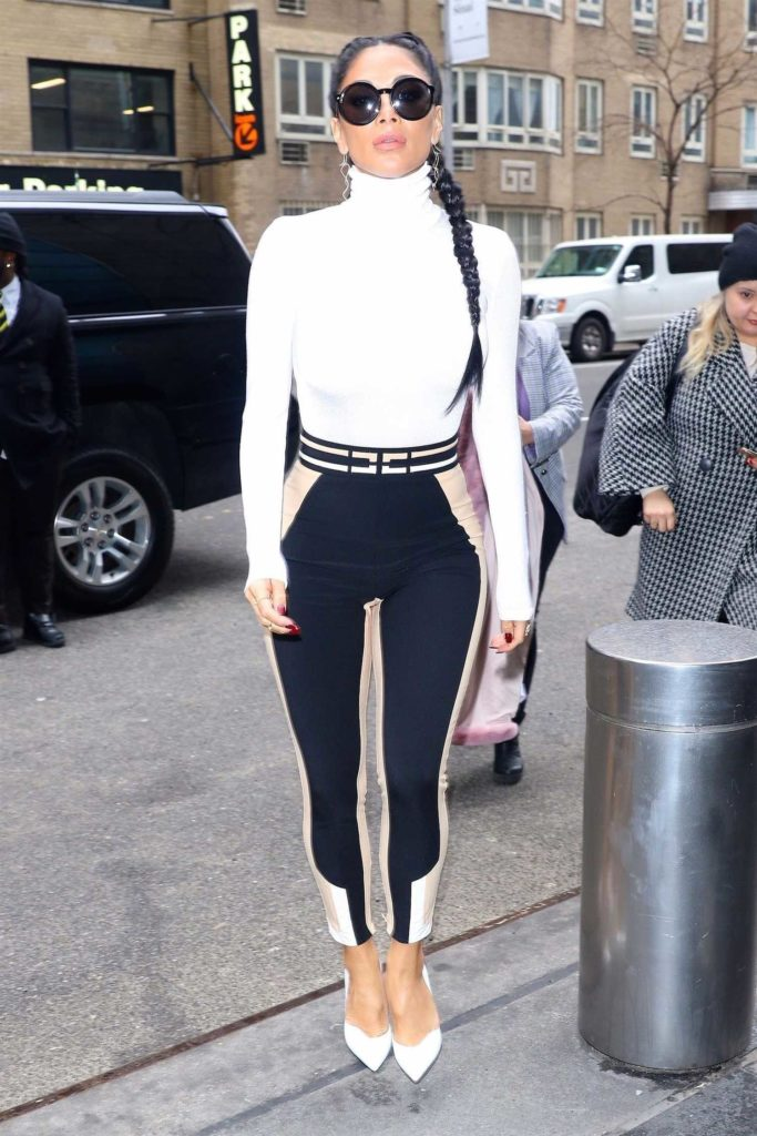 Nicole Scherzinger in a White Turtleneck