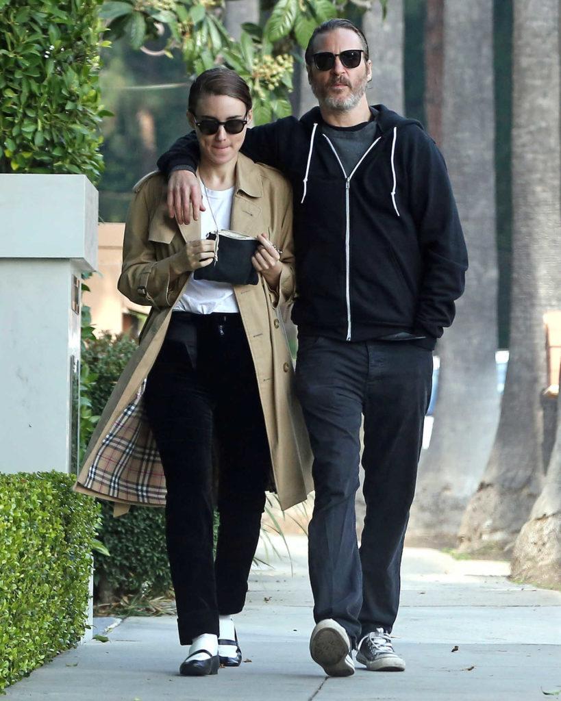 Rooney Mara in a Beige Trench Coat