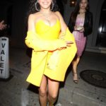 Tinashe in All Yellow Leaves Craig's Restaurant in West Hollywood