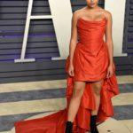 Amandla Stenberg Attends 2019 Vanity Fair Oscar Party in Beverly Hills