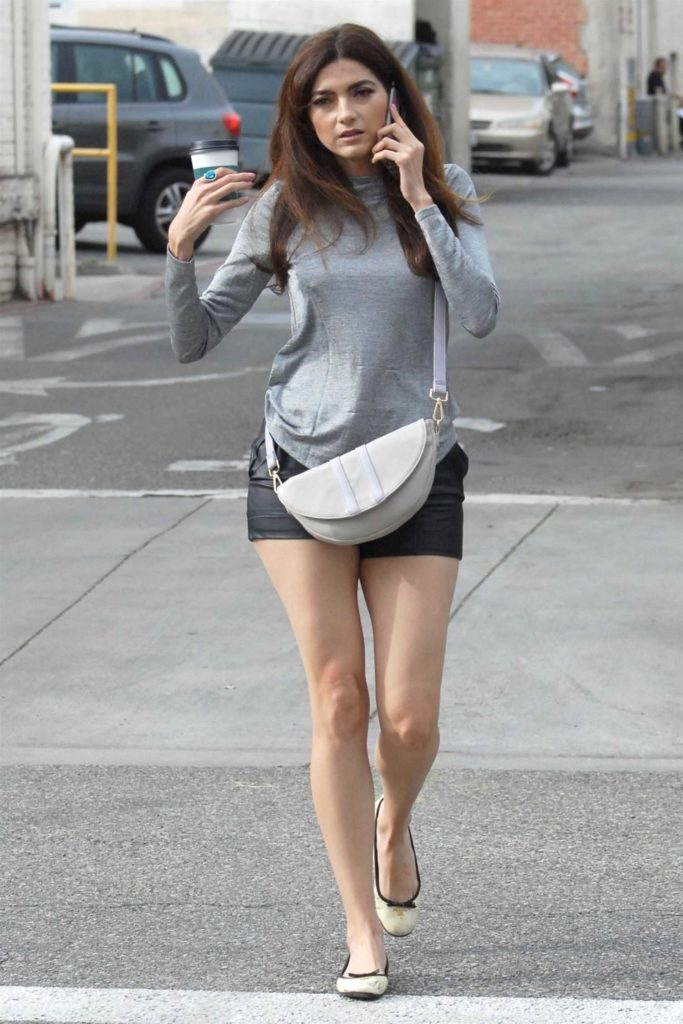 Blanca Blanco in a Gray Long Sleeves T-Shirt