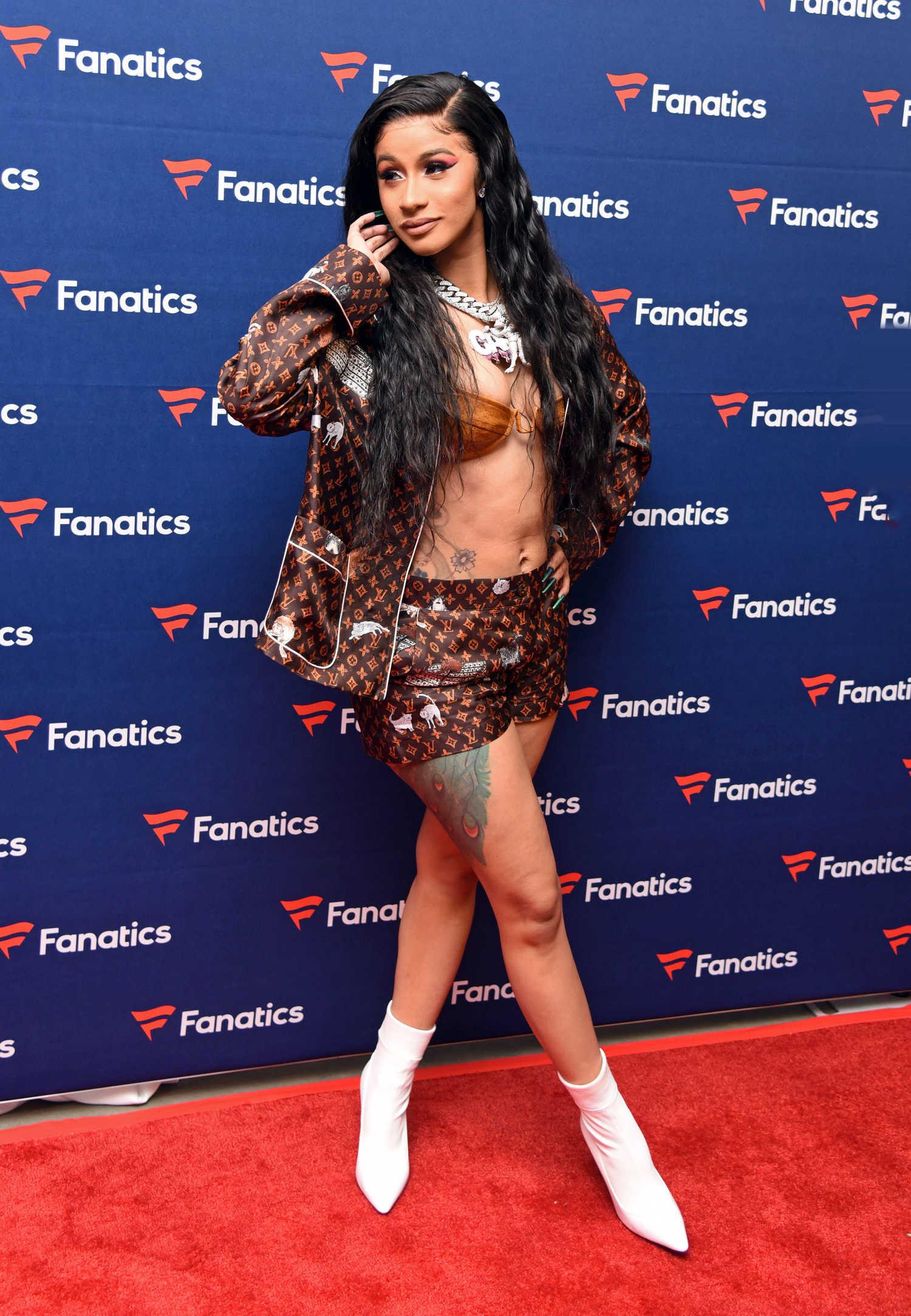 Cardi B Attends Fanatics Super Bowl Party In Atlanta