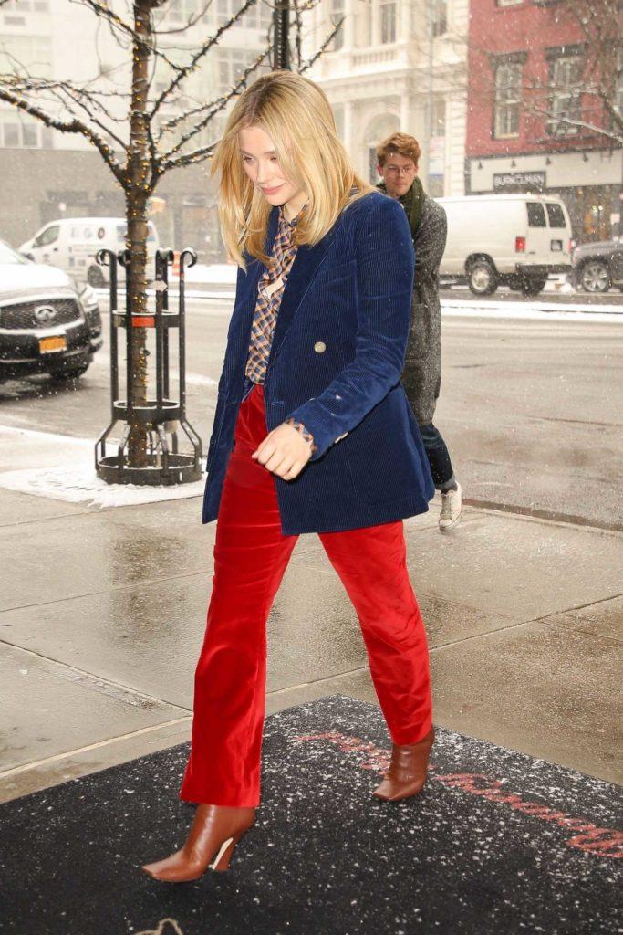 Chloe Moretz in a Red Pants