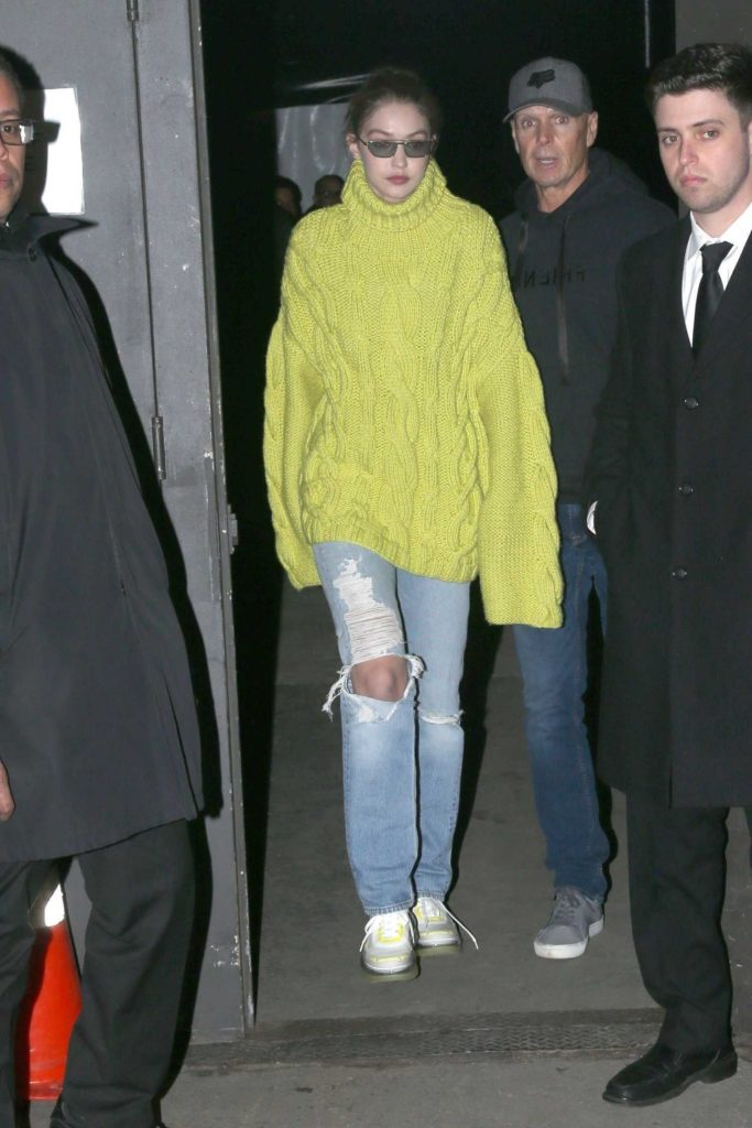 Gigi Hadid in Oversized Sweater