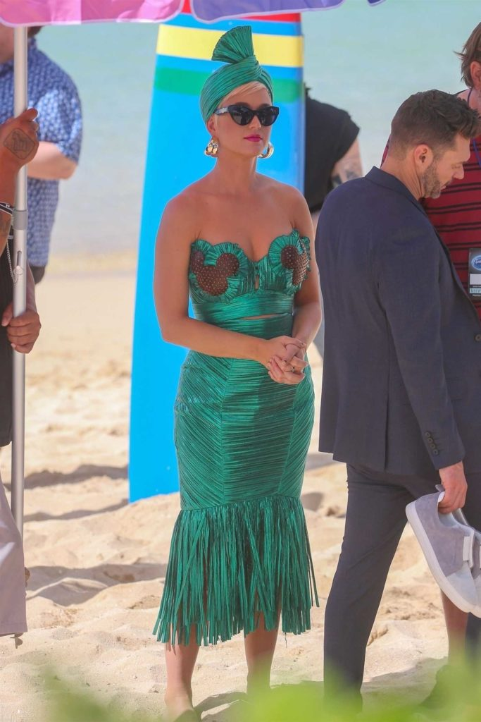 Katy Perry in a Green Dress