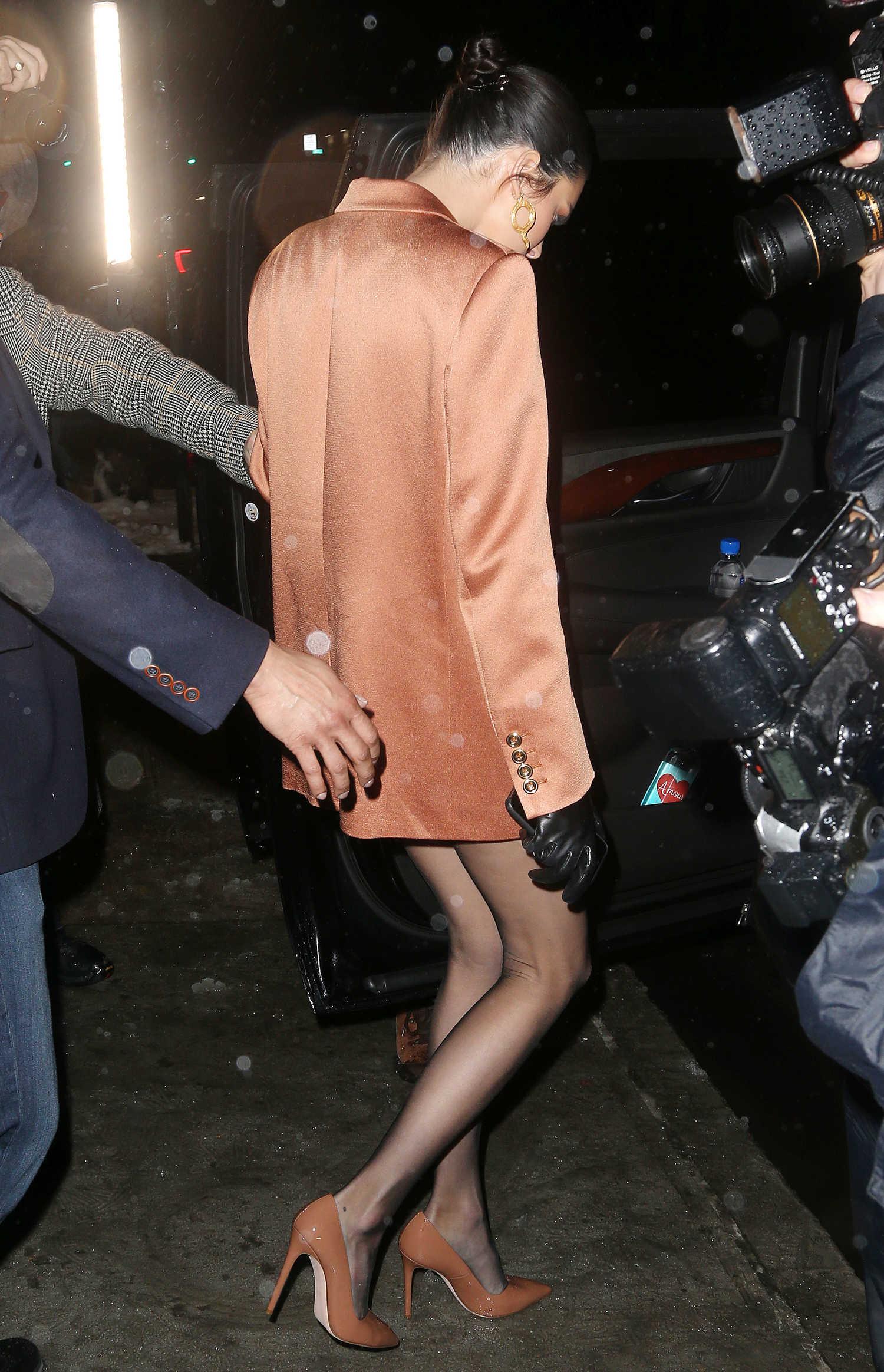 Kendall Jenner In An Orange Blazer Leaves The Stuart