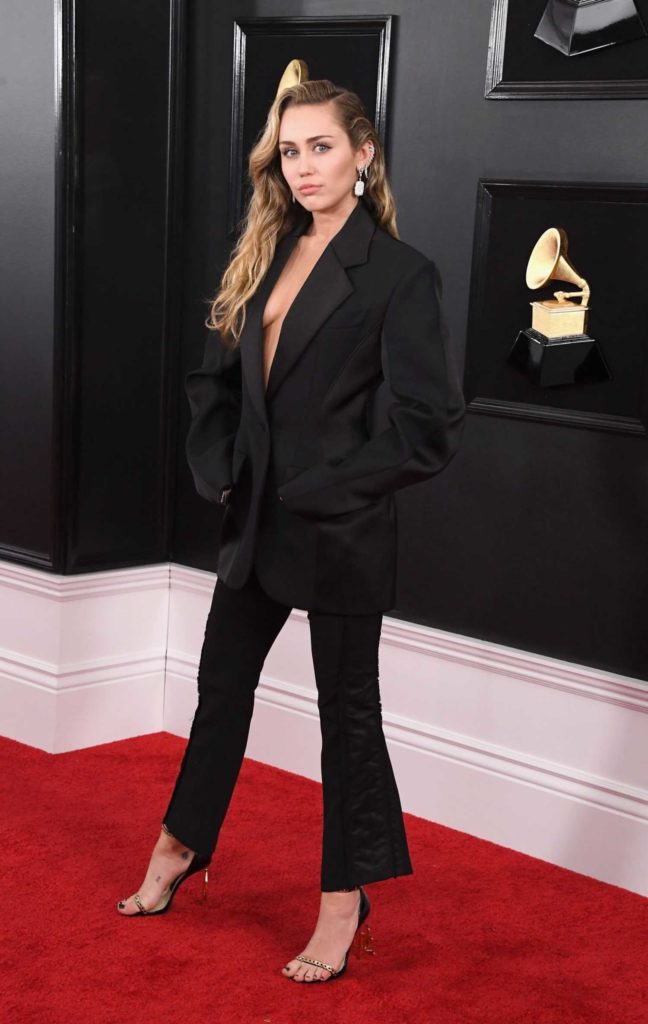 Miley Cyrus Attends the 61st Annual Grammy Awards 2019 at ...