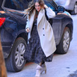 Sarah Jessica Parker in a Gray Coat Was Seen Out in New York