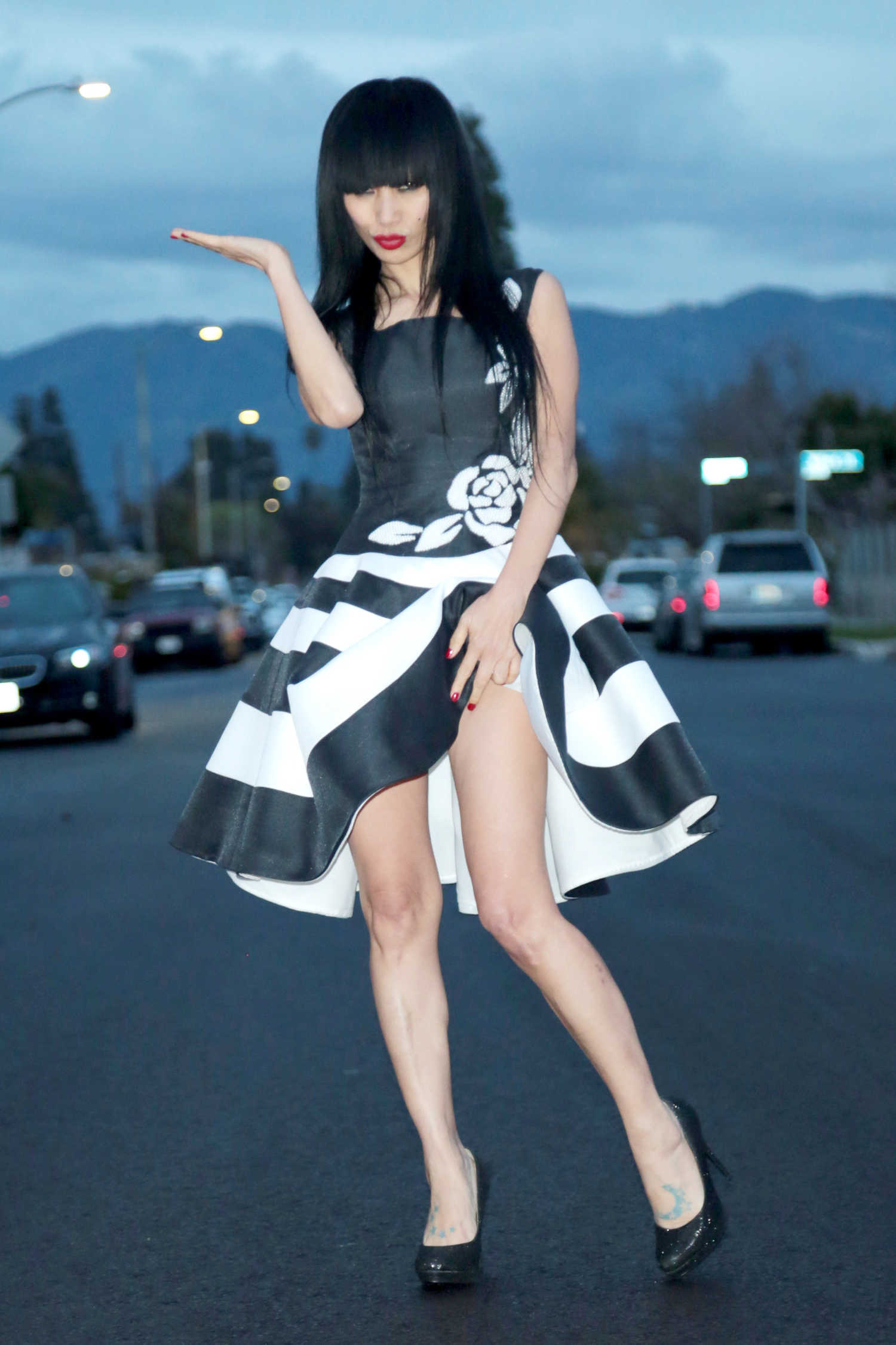 Bai Ling Was Seen Out Los Angeles Celeb Donut