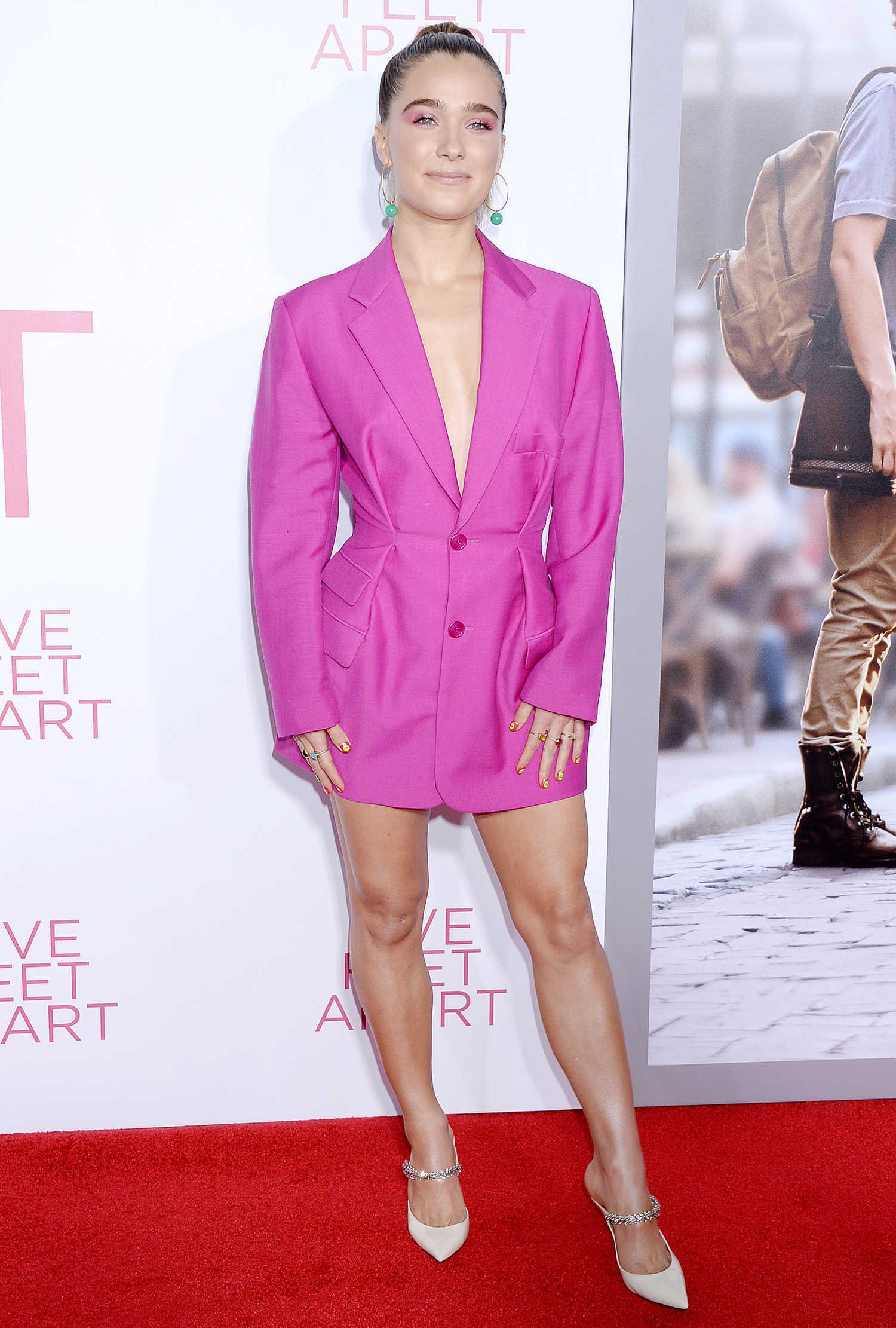 Haley Lu Richardson Attends Five Feet Apart Premiere in LA ...