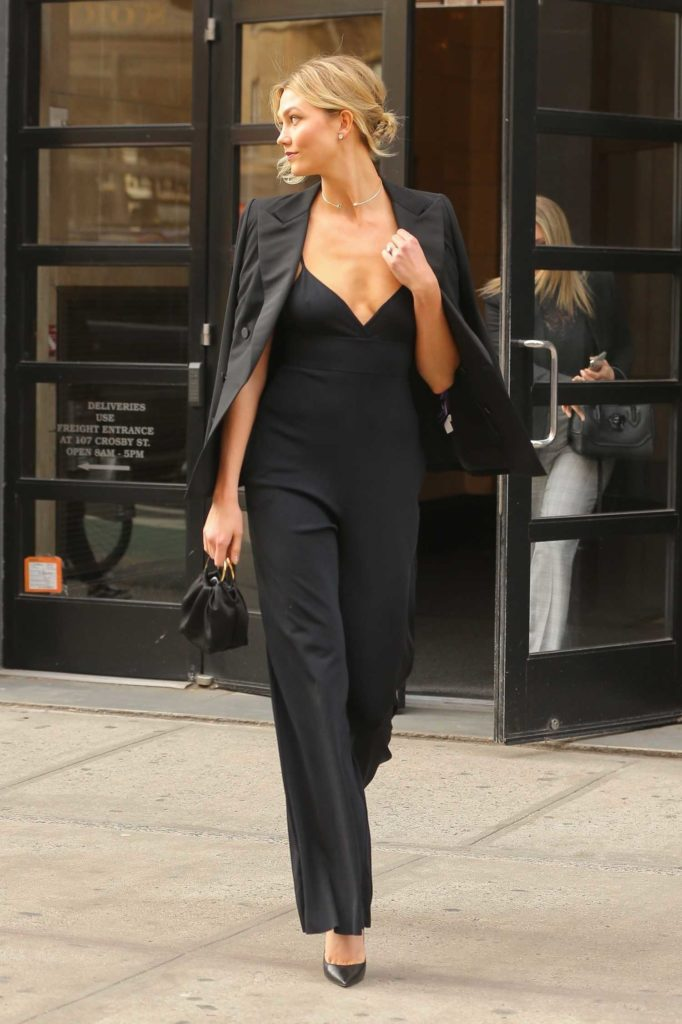 Karlie Kloss in a Black Blazer